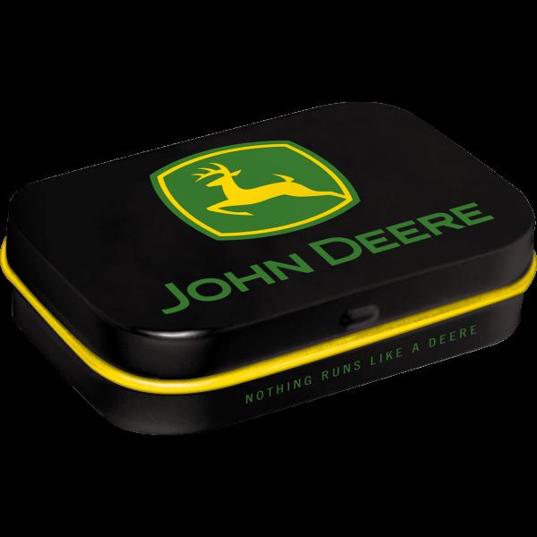 Nostalgic Art Tin Box /& Mints John Deere Logo Black SMALL