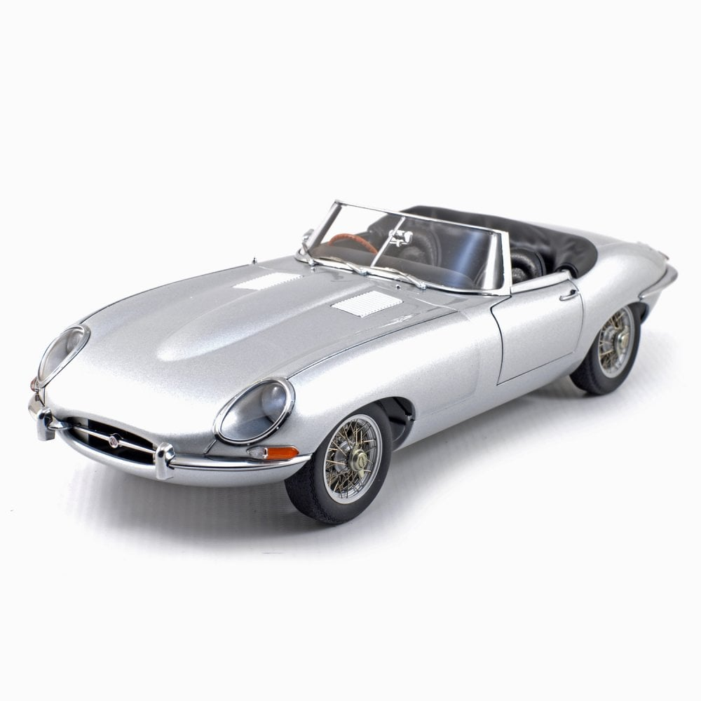 Autoart 1 18 Jaguar E Type Roadster Series 1 3 8 Silver Grey Damaged Outer Box Diecast Models From Le Mans 88 Uk