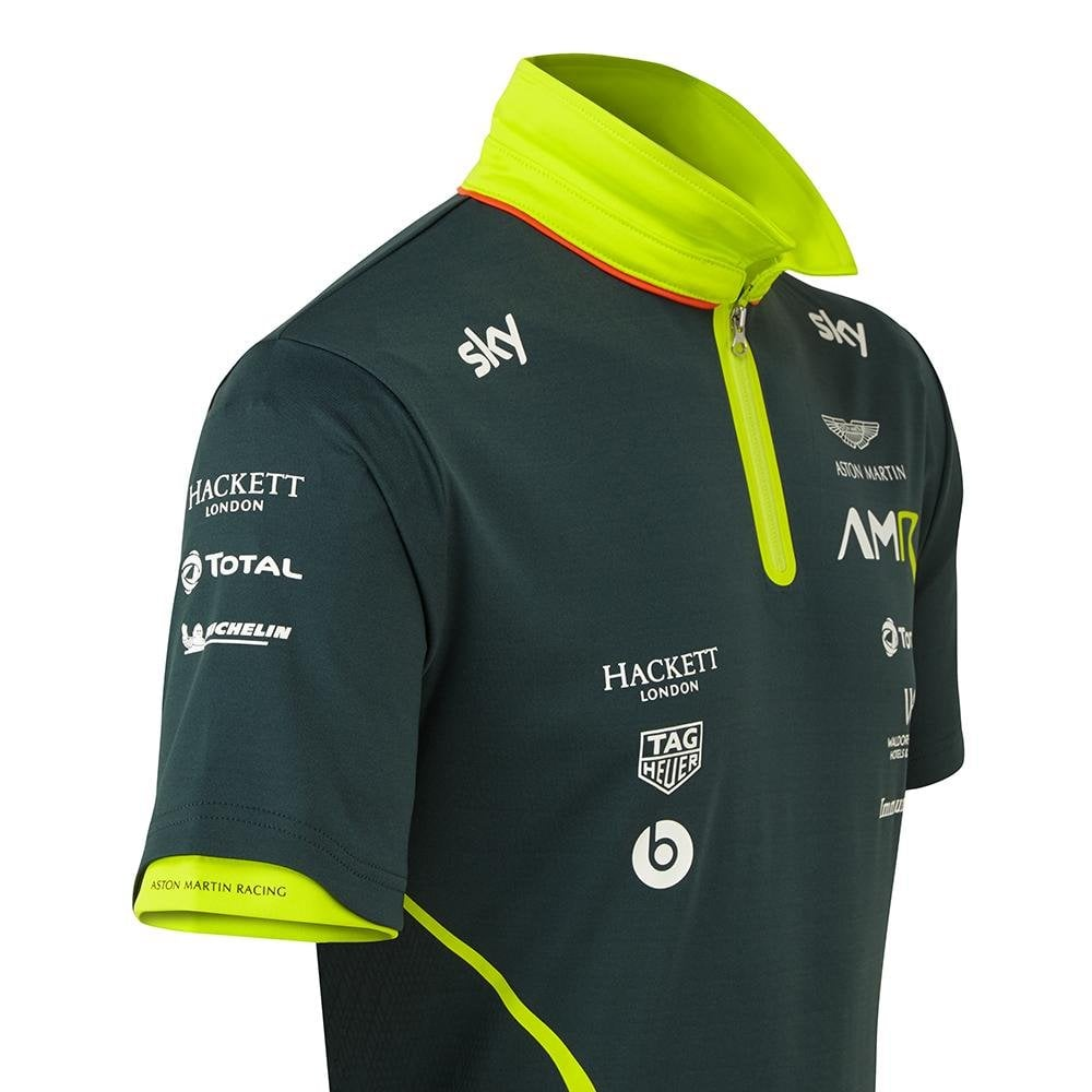 Aston Martin Racing Team Polo Shirt 2019 Sterling Green Adult Motorsport Merchandise From Le Mans 88 Uk