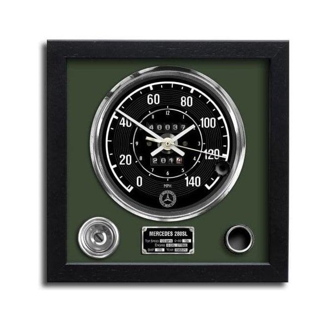 Chronos Speedometer Art Print Wall Clock Mercedes 280sl