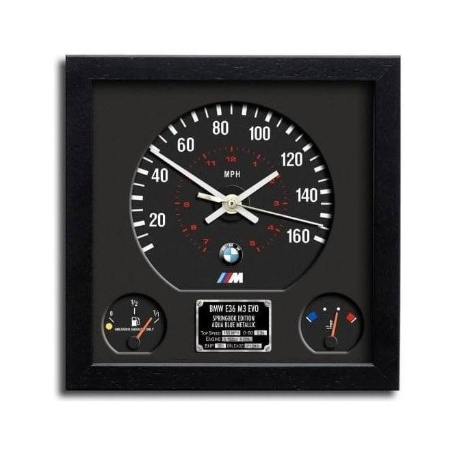 Chronos Speedometer Art Print Wall Clock Bmw M3 E36
