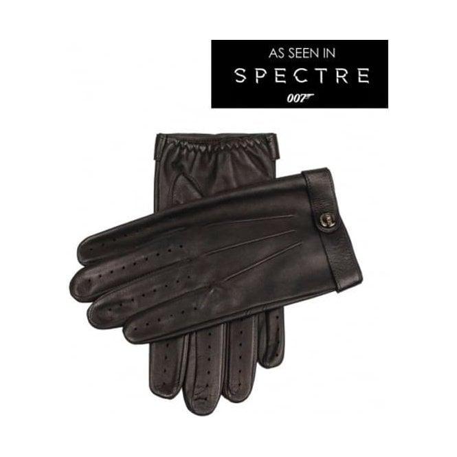 James Bond Spectre Men's Leather Driving Gloves BLACK