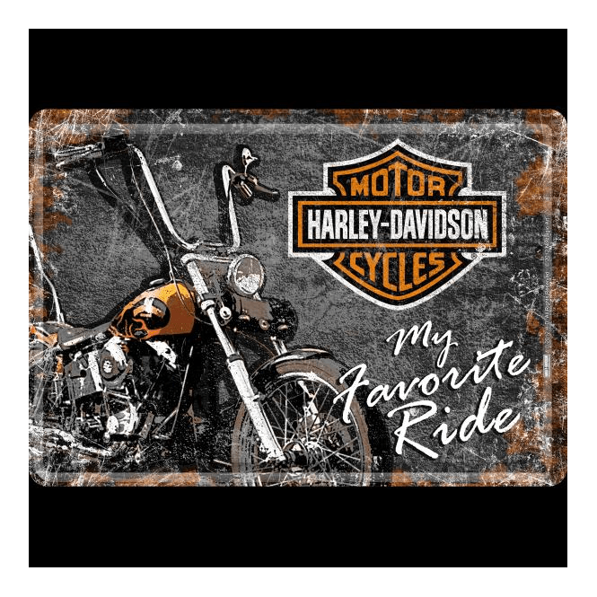 "Motorcycle You Love RIDE You Must    Harley-Davidson    FRIDGE Magnet 3/"" x 3/"""