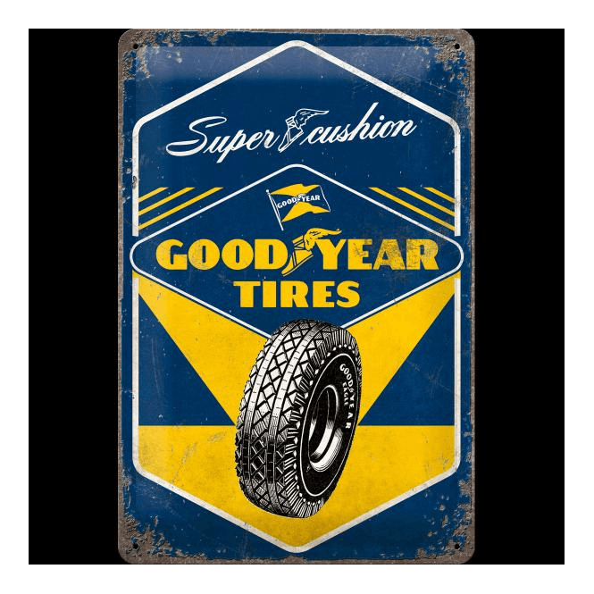 GOODYEAR Yellow Logo Decorative Tire