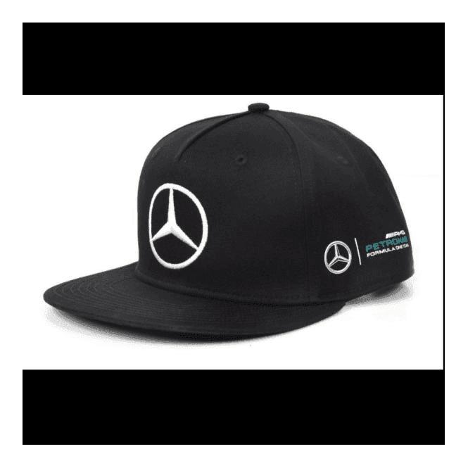 f9bb43f97 Mercedes AMG F1 Lewis Hamilton Flat Brim Puma Cap 2017 Black ADULT