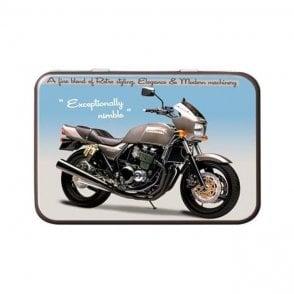 Red Hot Lemon Keepsake Metal Tin Triumph Speed Twin Classic Motorbike